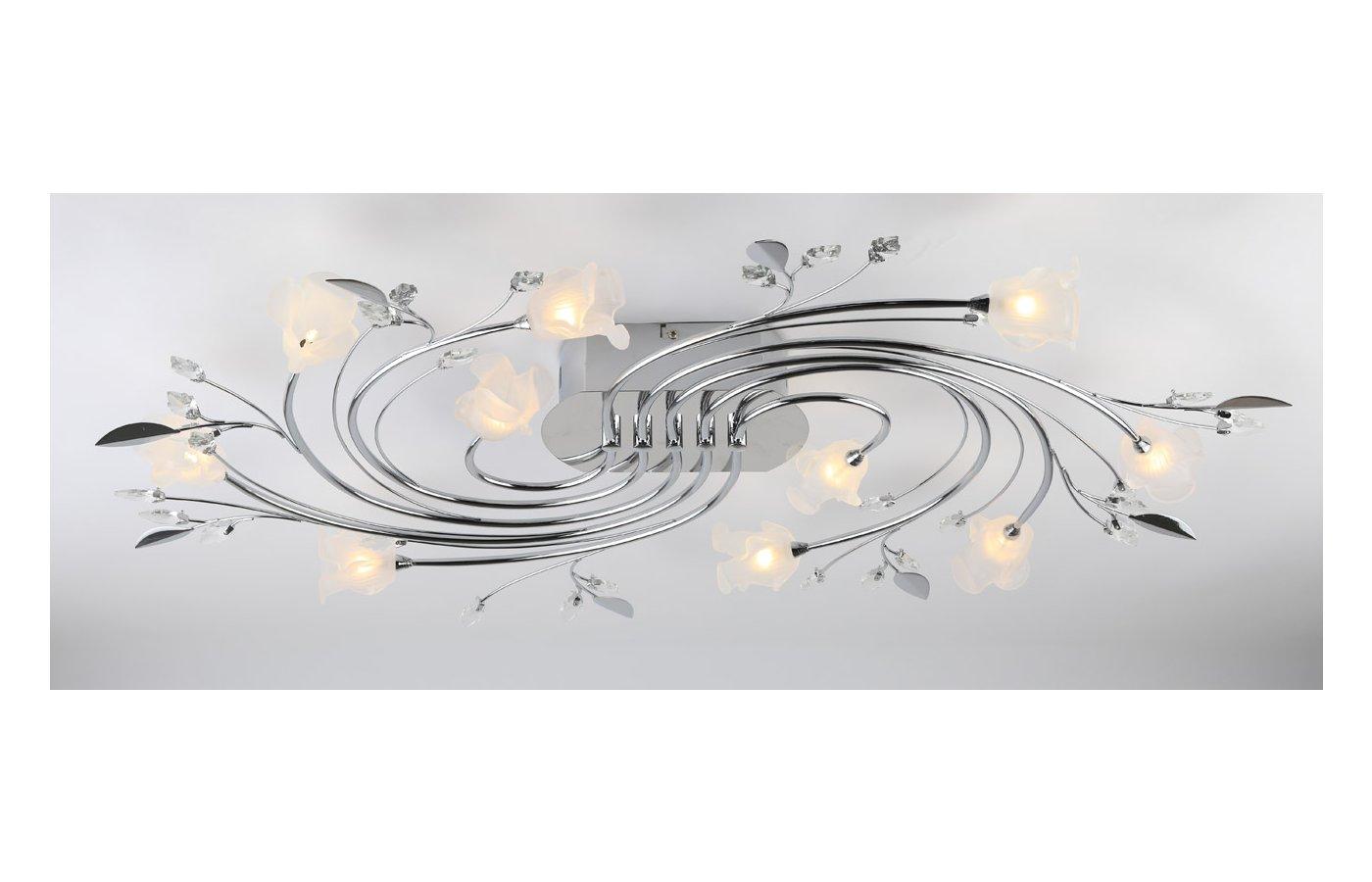 Декоративный светильник Rivoli Paxi-C-10хG4-20W-Chrome