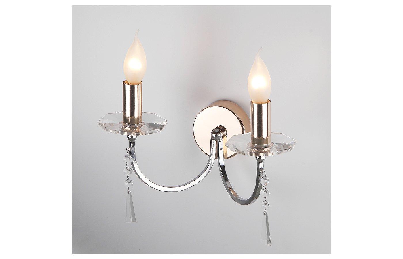 Декоративный светильник Rivoli Stella-W-2xE14-60W-ChrGd