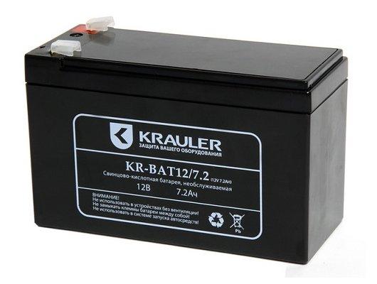 Блок питания KRAULER батарея для ИБП свинцово-кислотная 12В 7.2Ач