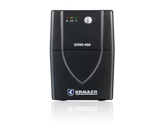Блок питания KRAULER SOHO-600 line-interactive 600Ва 4 розетки IEC320 чёрный