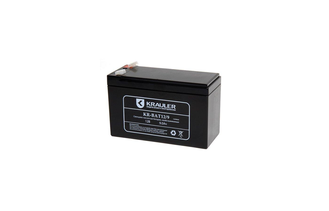 Блок питания KRAULER батарея для ИБП свинцово-кислотная 12В 9Ач