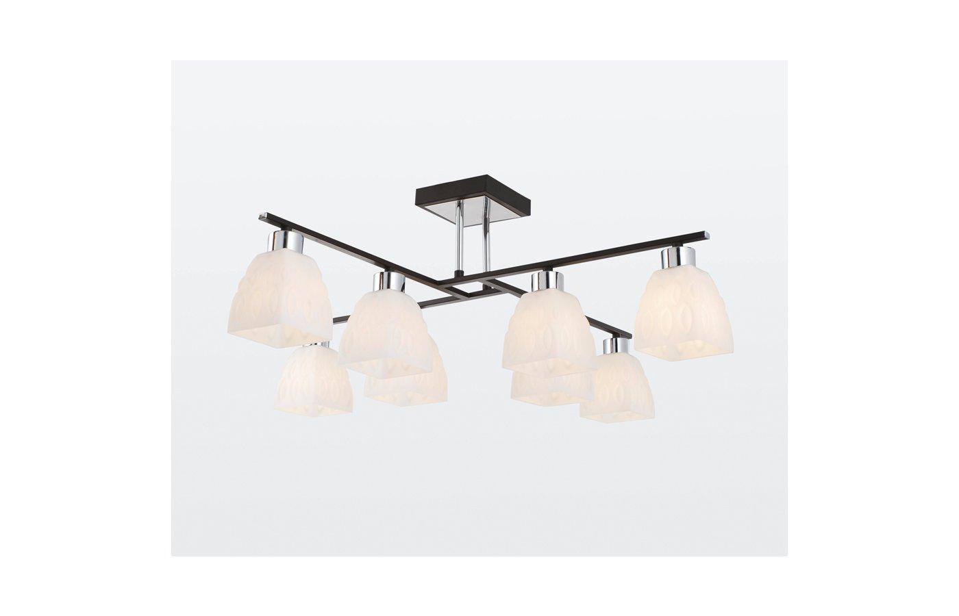 Декоративный светильник Rivoli Viola-C-8xE14-40W-Chrome