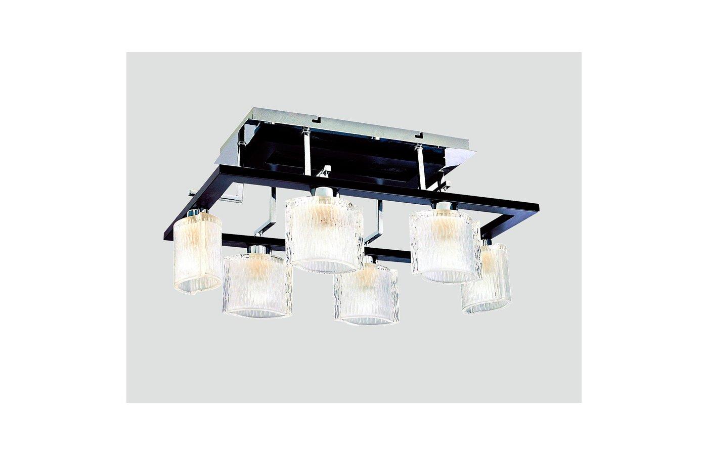 Декоративный светильник Rivoli Virgilio-C-6xE14-40W-Chrome