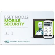 Компьютерное ПО Eset NOD32 Mobile Security 3ПК/1 год (NOD32-ENM2-NS(CARD)-1-1)
