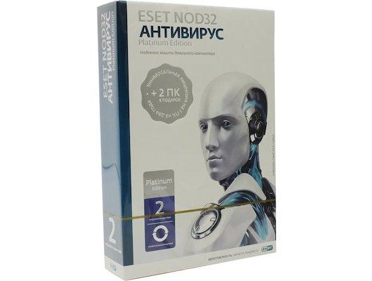 Компьютерное ПО Eset NOD32 Антивирус Platinum Edition - лицензия на 2 года на 3ПК, BOX (NOD32-ENA-NS(BOX)-2-1)