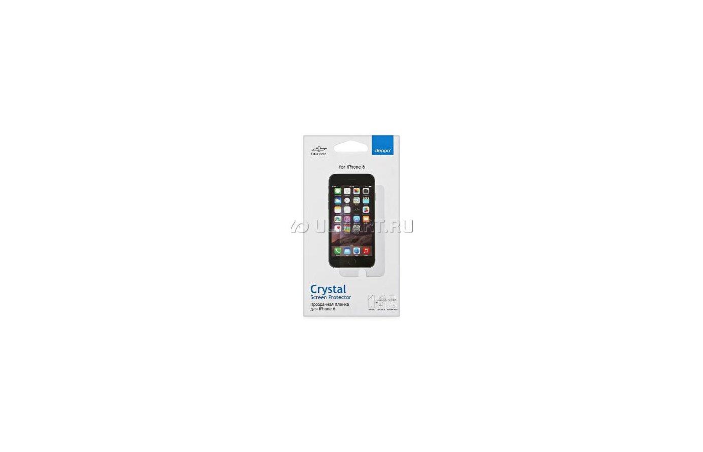 Стекло Deppa пленка для iPhone 6 глянцевая