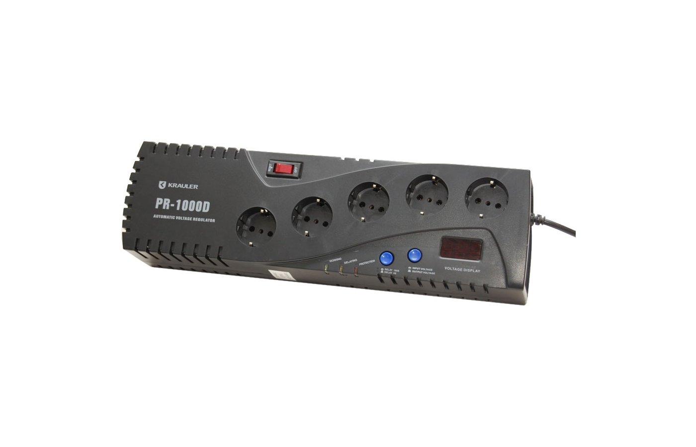 Стабилизатор напряжения Krauler AVR VR-PR500D релейного типа