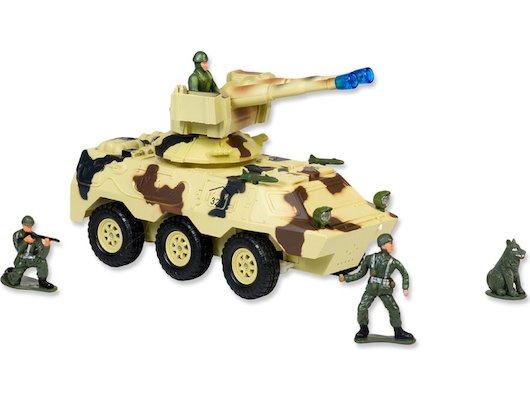 Игрушка Mioshi Army MAR1207-008 Вездеход с пулеметной установкой