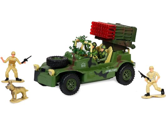 Игрушка Mioshi Army MAR1207-009 Военный джип с зенитной установкой