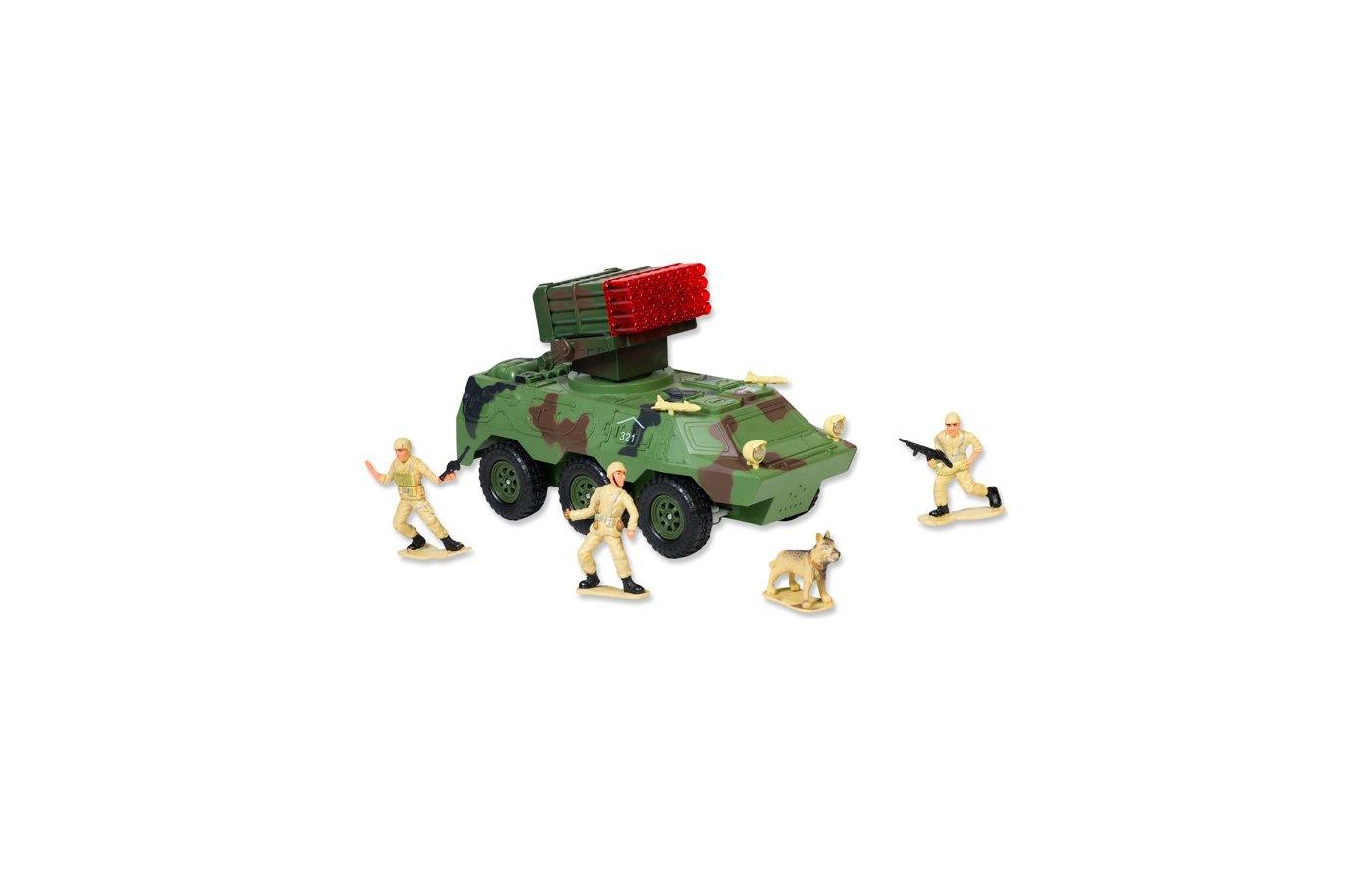 Игрушка Mioshi Army MAR1207-002 Бронетранспортер с зенитной установкой