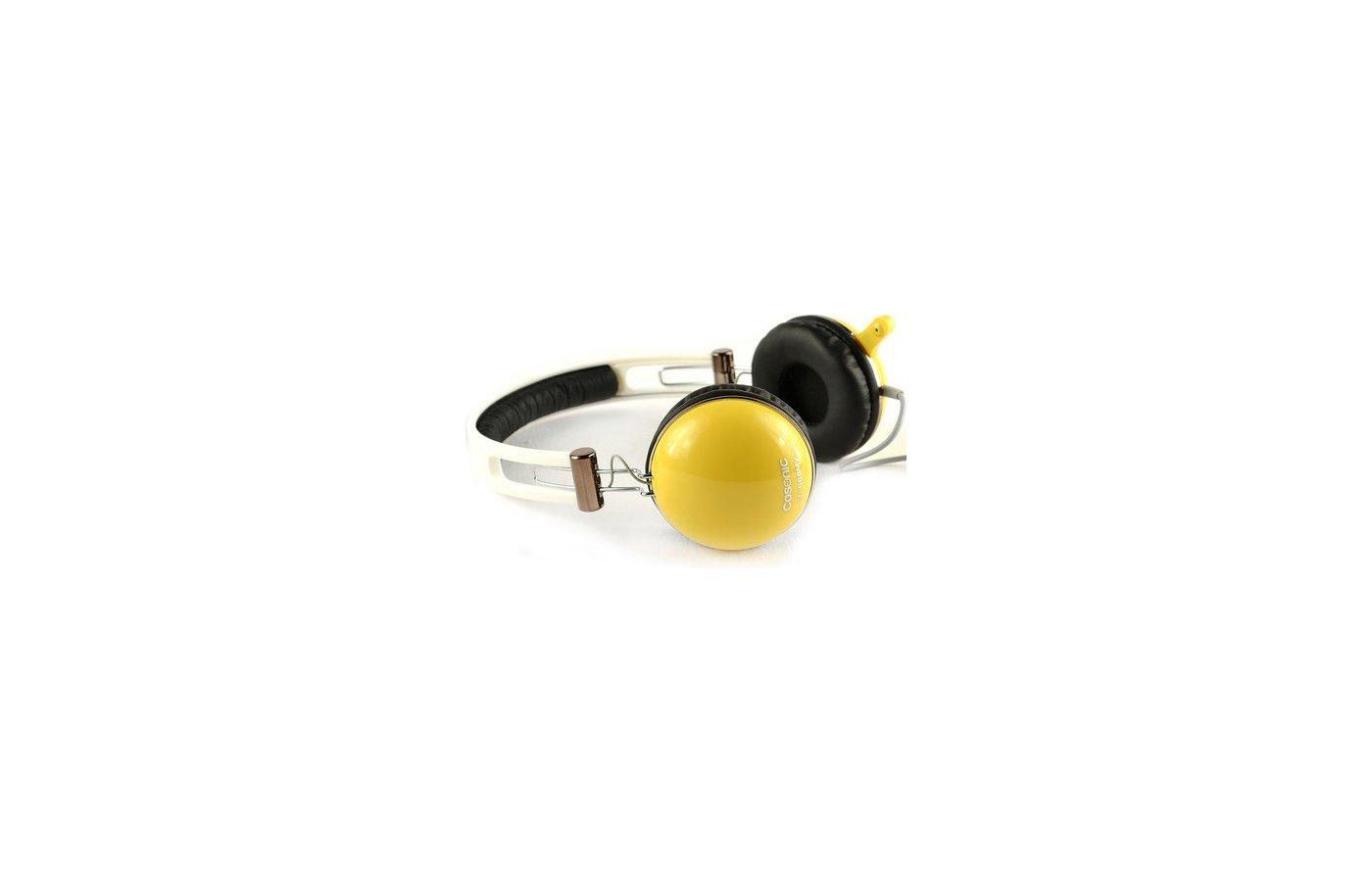 Наушники с микрофоном проводные COSONIC CD668MV Yellow