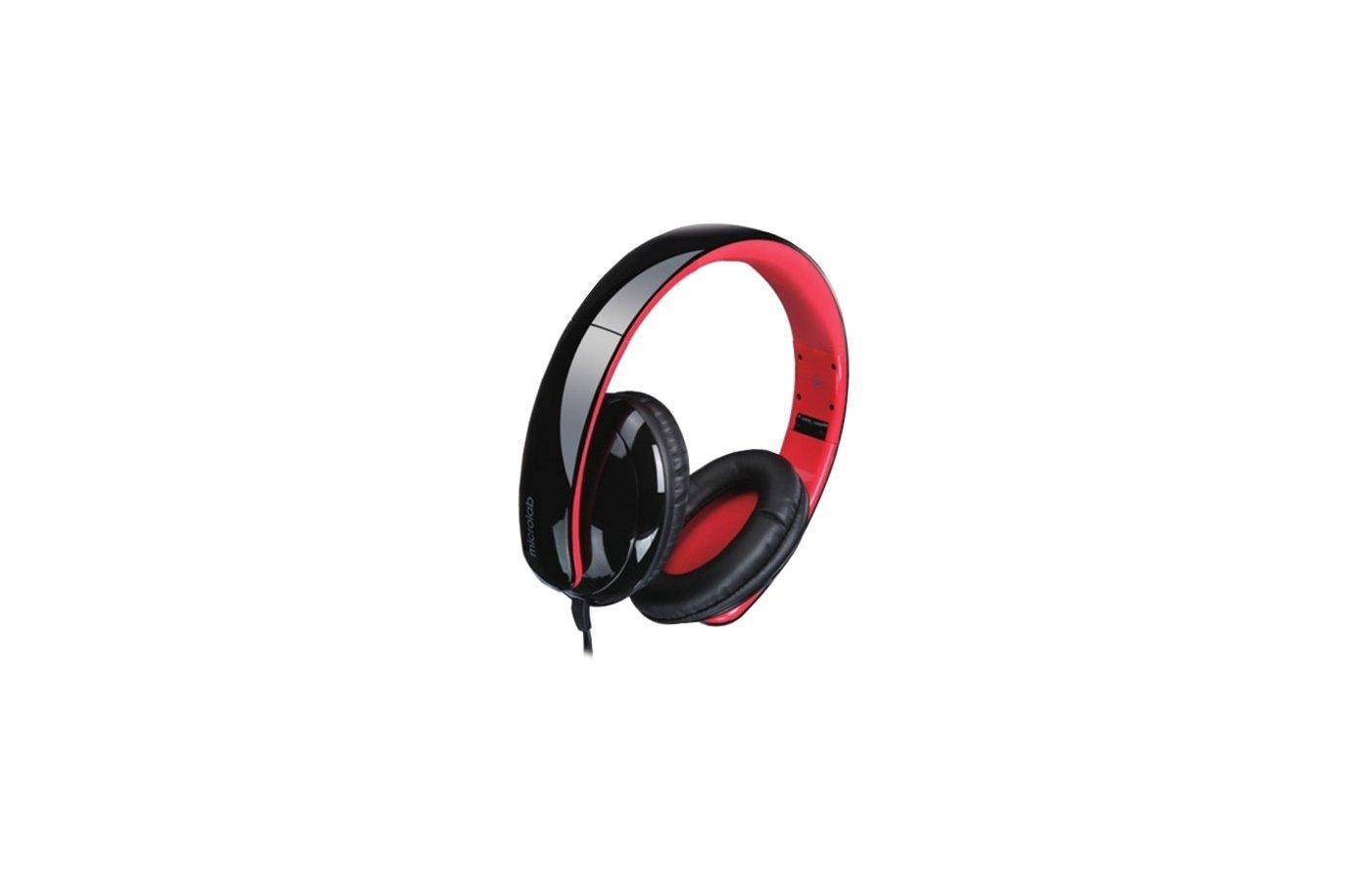 Наушники с микрофоном проводные MICROLAB K310 black 50mW 15Hz - 20KHz