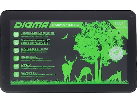 Планшет Digma Optima 10.6 3G (10.1) /TT1006MG/ 8Gb/3G/Blue