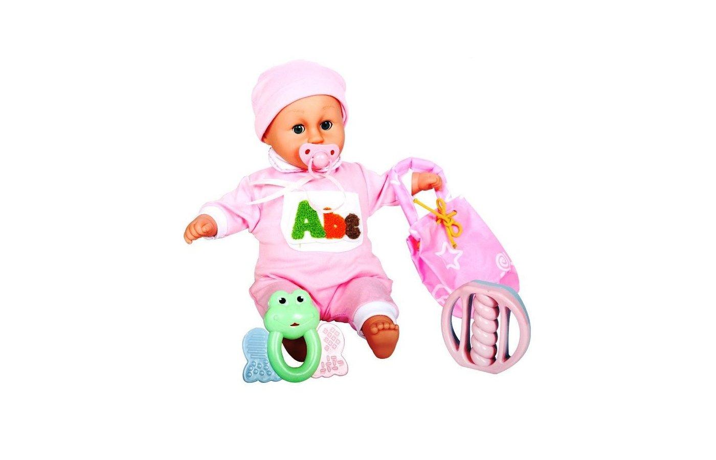 Игрушка DollyToy DOL0804-004 Интерактивная кукла-младенец Моя малышка