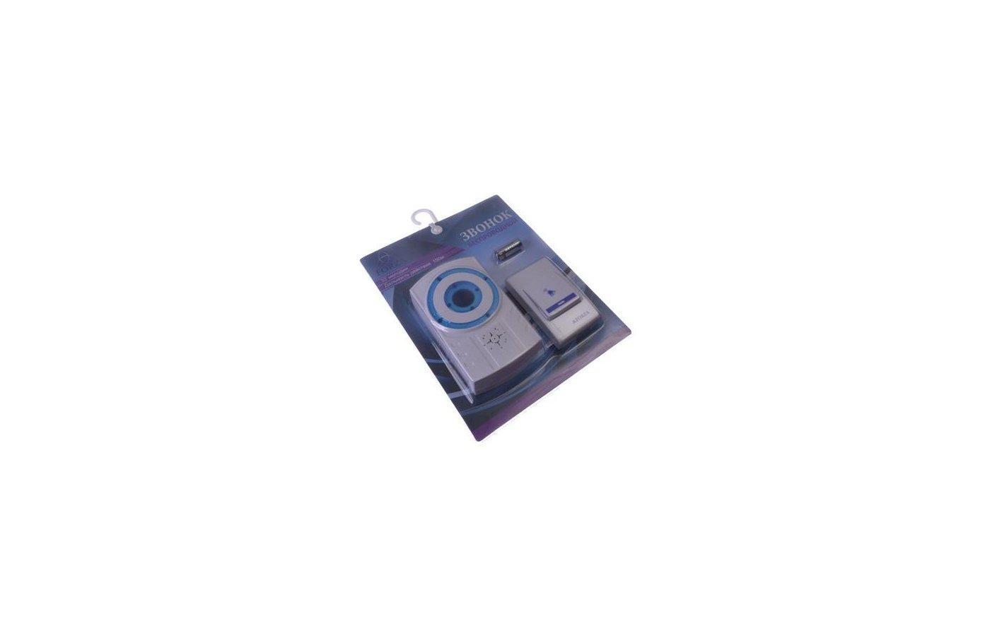 Дверной звонок FORZA 924-028 Звонок беспроводной 32 мелодии со световым индикатором 4.5V DC(3x1.5VAAA) D8208