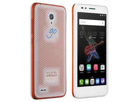 Смартфон Alcatel 7048X GO PLAY White/Orange+White