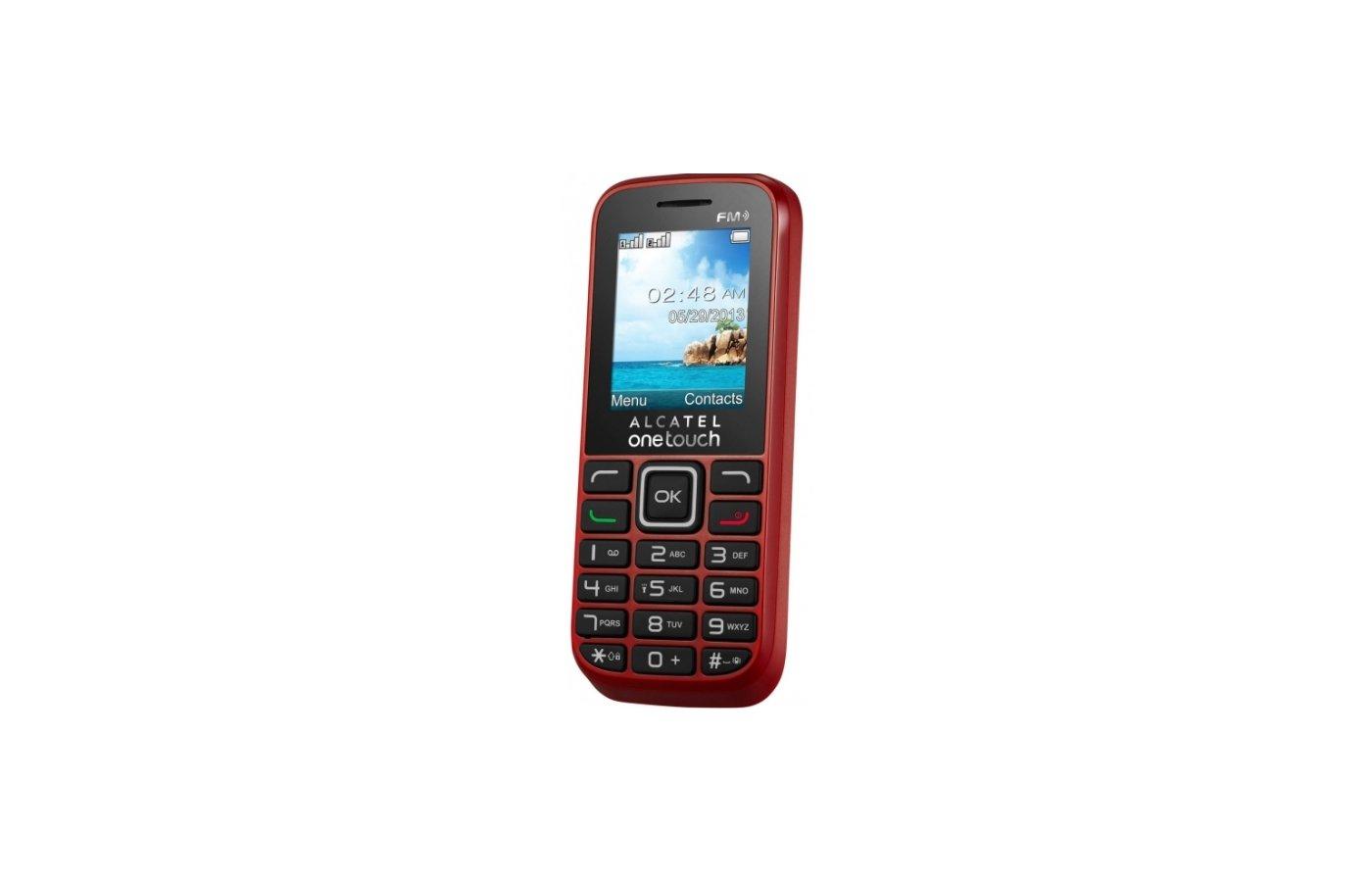Мобильный телефон Alcatel 1052D Black Red