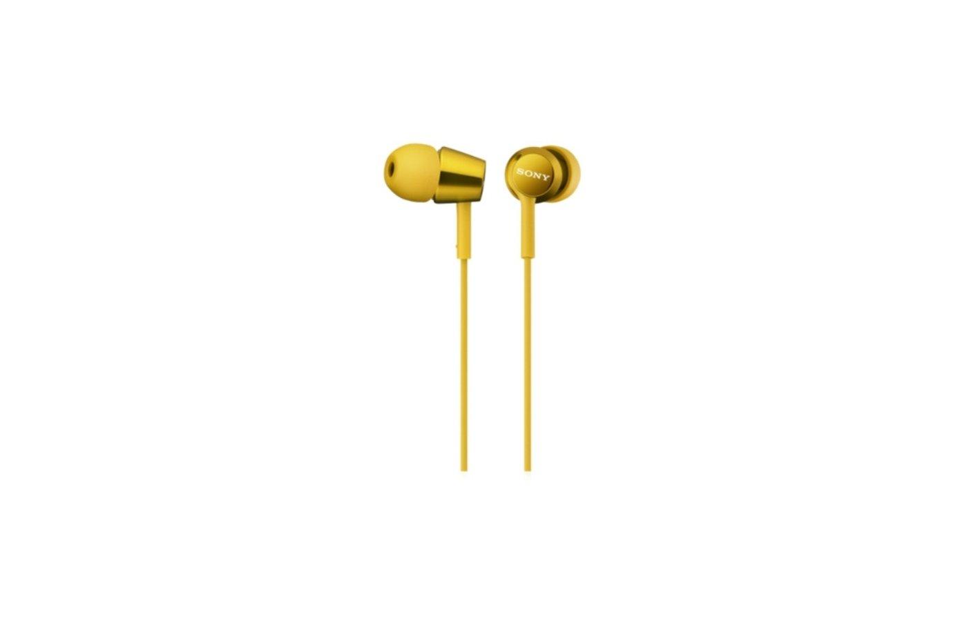 Наушники вкладыши SONY MDR-EX150 желтый