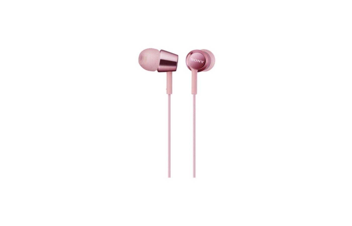 Наушники вкладыши SONY MDR-EX150 розовый