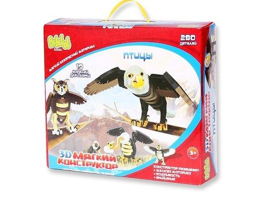 Конструктор Bebelot BEB0706-017 3D мягкий конструктор Птицы