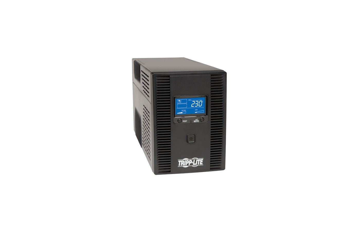 Блок питания Tripplite Smart LCD SMX1500LCDT 1500VA черный вертикальном исполнении с ЖК-дисплеем и USB-портом, но