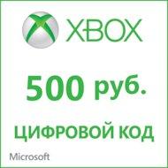 Карта оплаты Xbox LIVE 500 рублей