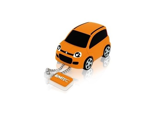 Флеш-диск USB 2.0 8Gb Emtec F102 Fiat panda orange