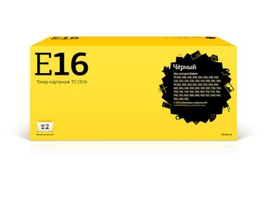 Картридж лазерный T2 совместимый для Canon TC-CE16 FC 108/128/206/208/210/220/228/230/310/330/PC330/760/860 (2500 стр.