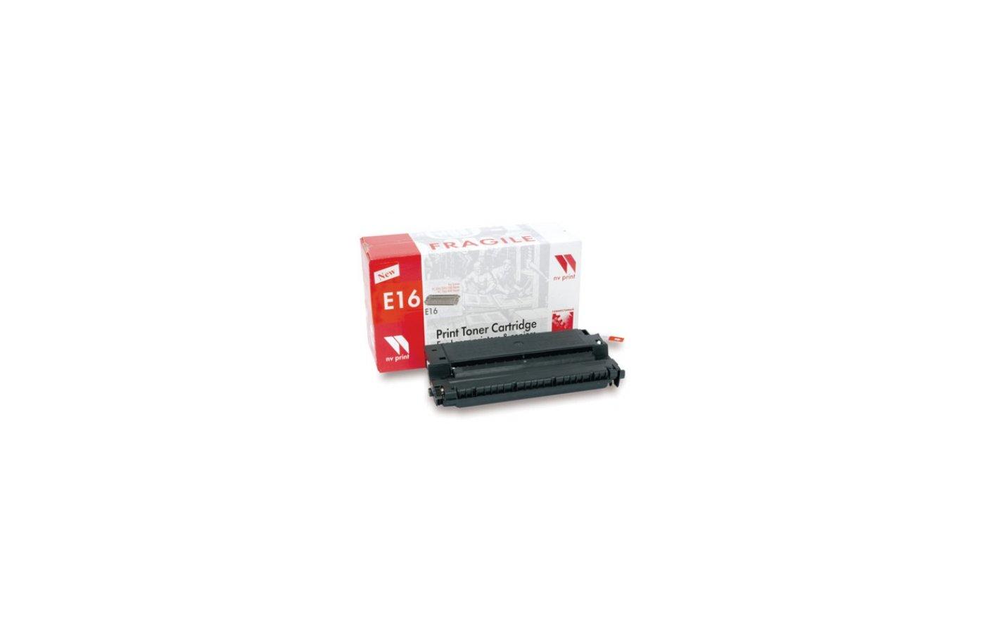Картридж лазерный NV-Print совместимый Canon E-16 для FC-2xx/3xx/530/108/208 PC-7xx PC-8xx. Чёрный. 2000 страниц.