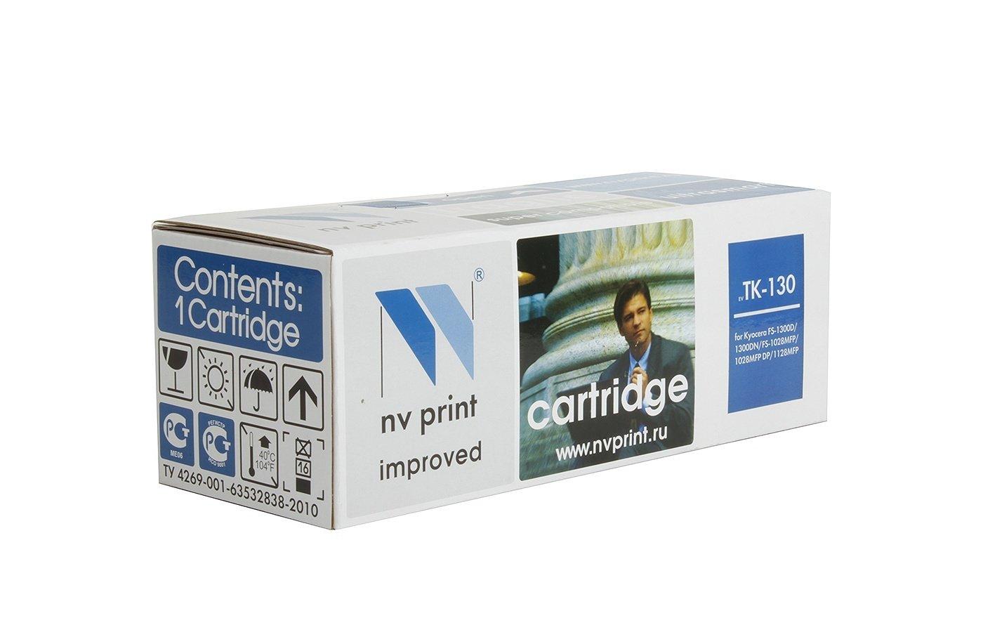 Картридж лазерный NV-Print совместимый Kyocera TK-130 для FS-1028MFP/1128MFP/1300D/1350DN. Чёрный. 7200 страниц.