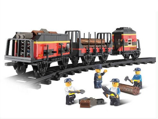 Конструктор SLUBAN M38-B0232 Железнодорожный вокзал. Товарный поезд
