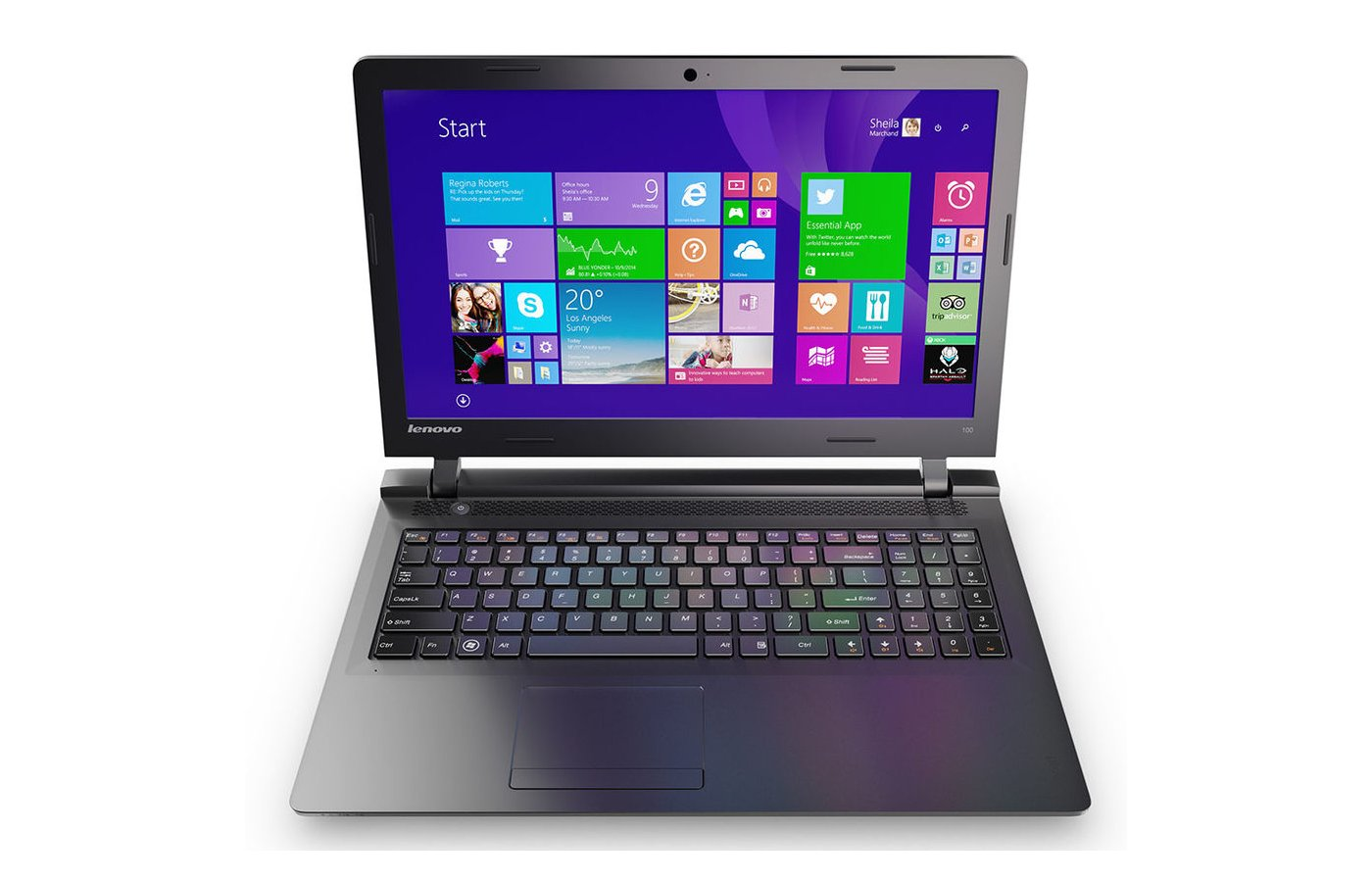 Ноутбук Lenovo IdeaPad 100-15IBY /80MJ0056RK/ intel N2840/2Gb/250Gb/15.6/WiFi/BT/Cam/Win8