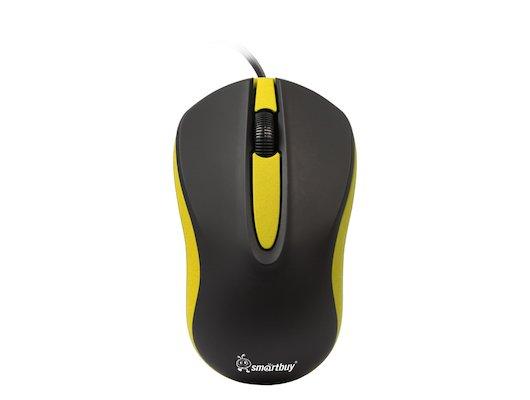 Мышь проводная SmartBuy 329 Black/Yellow