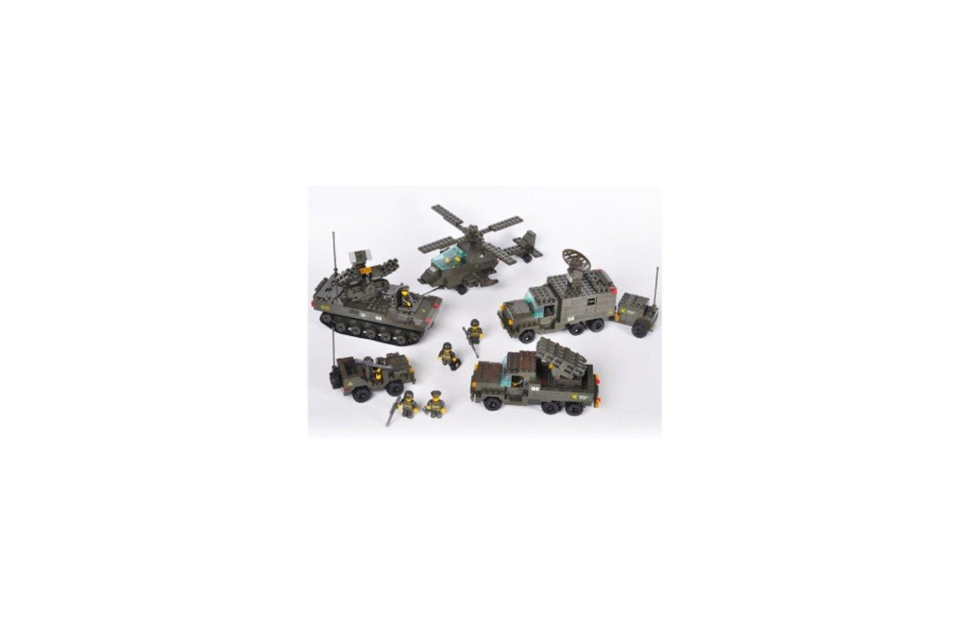 Конструктор SLUBAN M38-B7000 Сухопутные войска. Секретная база