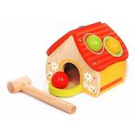Игрушка Altacto 6947 Деревянная игрушка. Игра-стучалка Домик с шариками