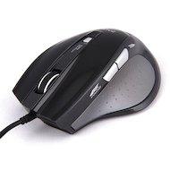 Мышь проводная Zalman ZM-M400 USB 1600dpi Gaming mouse 4x buttons black color тефлон. покрытие