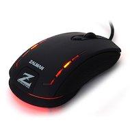 Фото Мышь проводная Zalman ZM-M401R USB 2500dpi Gaming mouse rubber coating DPI memory LED illumination black color
