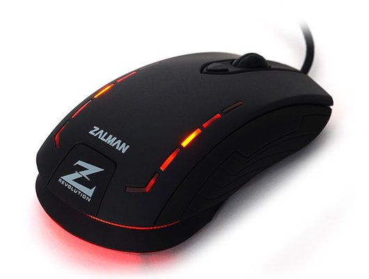 Мышь проводная Zalman ZM-M401R USB 2500dpi Gaming mouse rubber coating DPI memory LED illumination black color