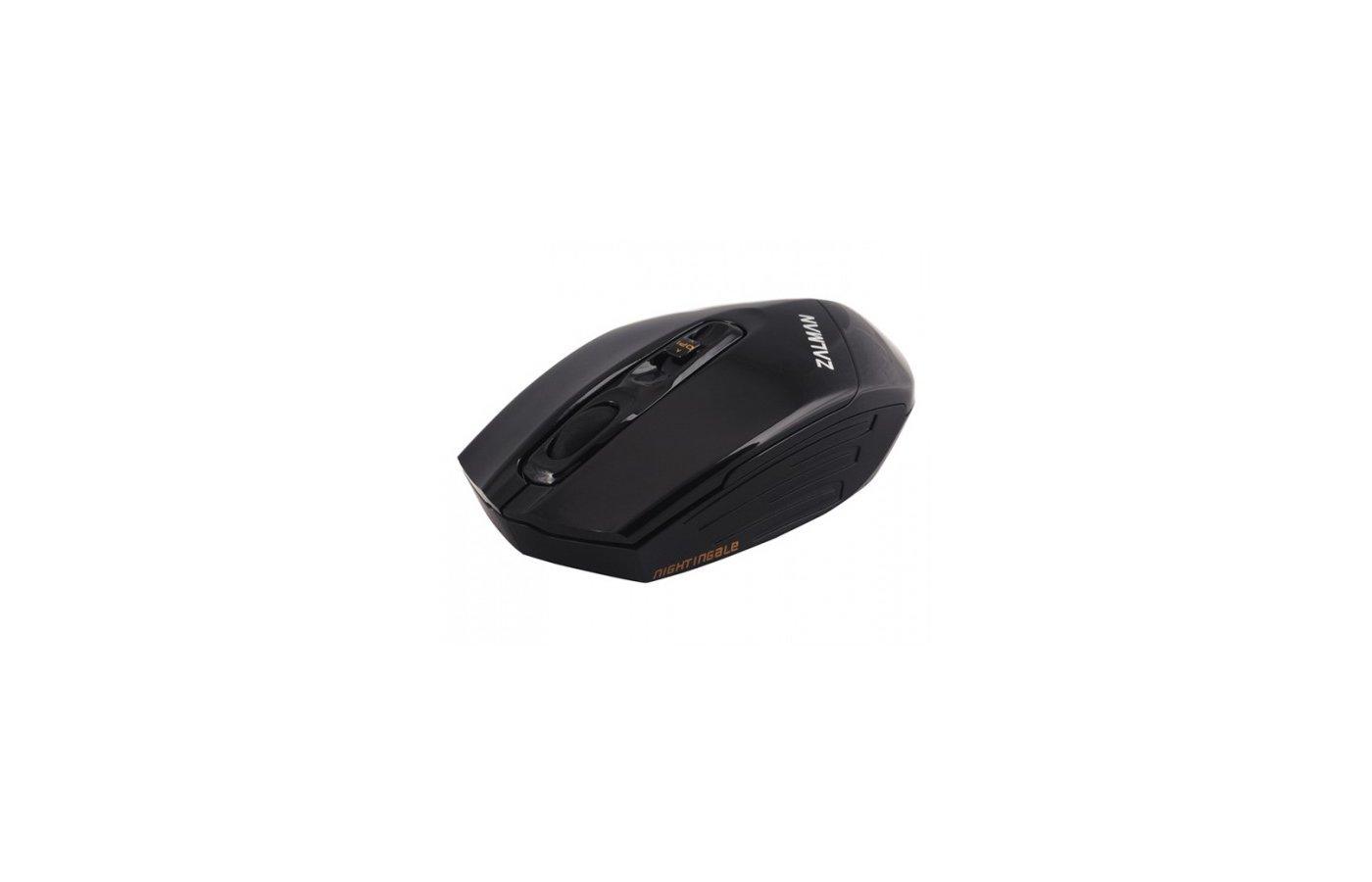 Мышь беспроводная Zalman ZM-M500WL USB 3000dpi 2.4Ghz Wireless Gaming 3 in 1 Function Keyblack
