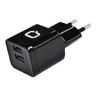 Зарядное устройство QUMO СЗУ 2хUSB 2.1A + кабель microUSB