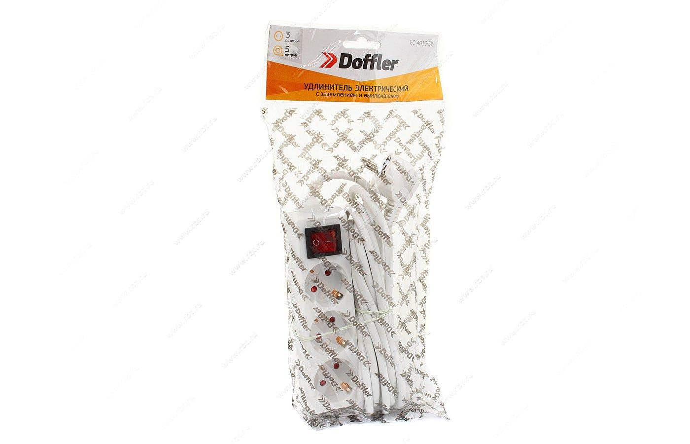Удлинитель DOFFLER EC 4013-5W 3роз./5м.