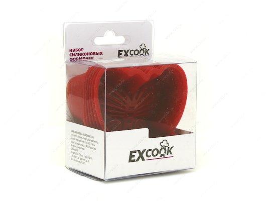 Форма для выпечки силиконовая EXCOOK H15164 Набор силиконовых формочек