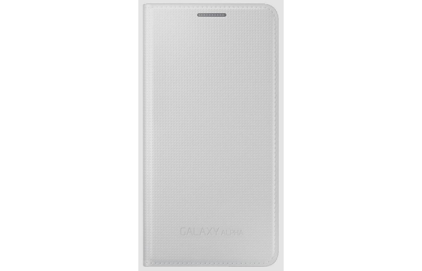 Чехол Samsung Flip Cover для Galaxy Alpha (SM-G850) (EF-FG850BWEGRU) белый