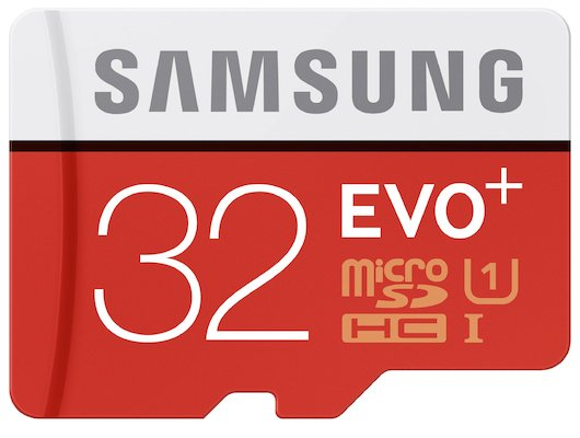 Карта памяти Samsung microSDHC 32Gb EVO PLUS Class 10 UHS-I + адаптер (MB-MC32DA)