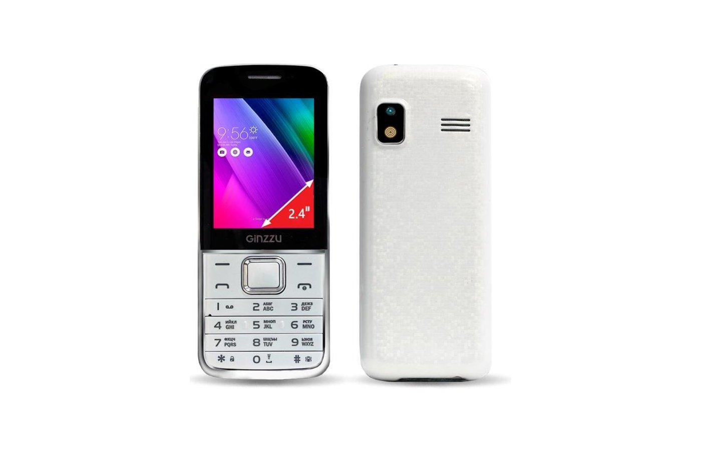 Мобильный телефон Ginzzu M101D White
