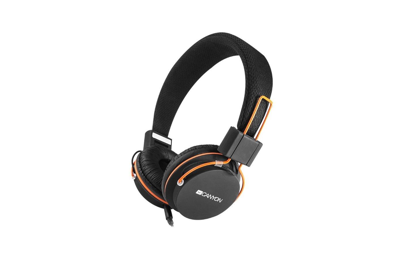 Наушники с микрофоном проводные CANYON CNE-CHP2 Black