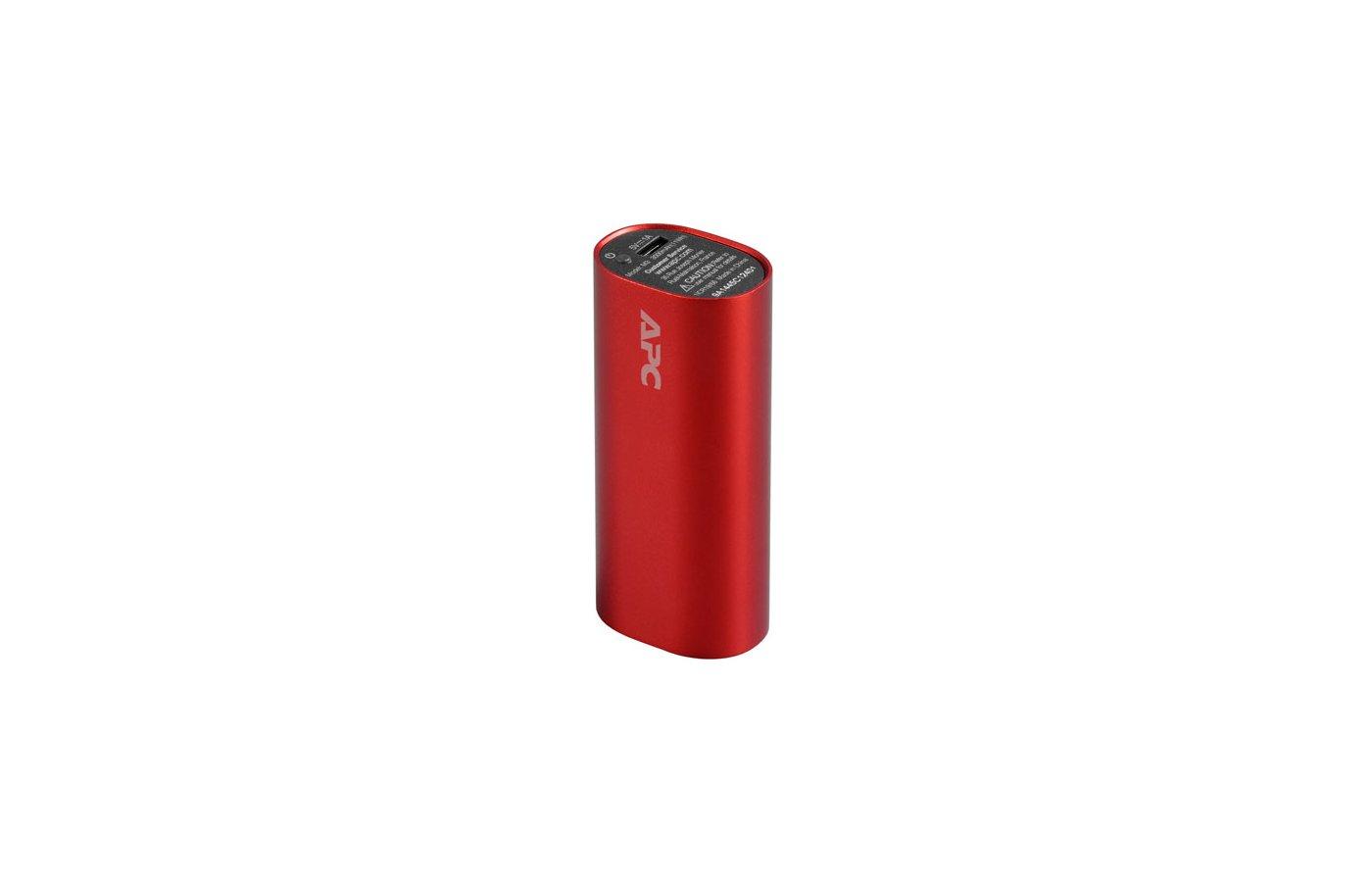 Портативный аккумулятор APC PowerPack M3RD-EC Li-Pol 3000mAh 1A красный