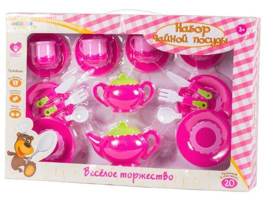 Игрушка Altacto ALT0201-129 Набор чайной посуды Веселое торжество