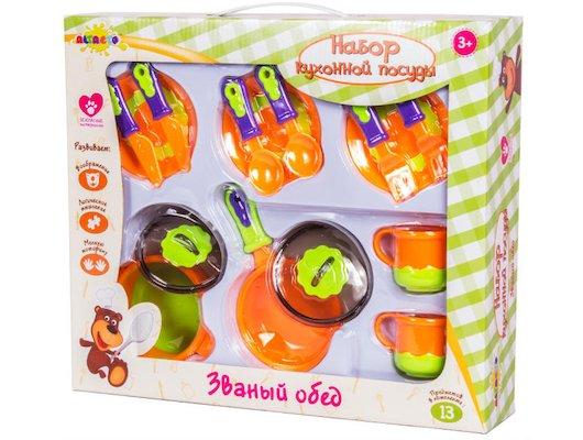 Игрушка Altacto ALT0201-116 Набор кухонной посуды Званый обед