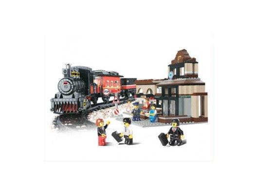 Конструктор SLUBAN M38-B0236 Железнодорожный вокзал Скорый поезд